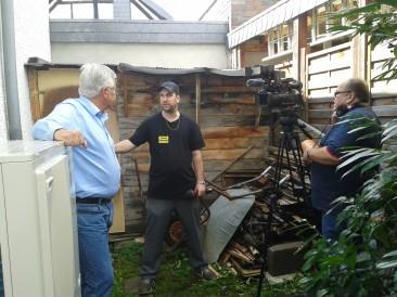 Zu Besuch: Bonner Fernsehen filmt Speichertechnologie