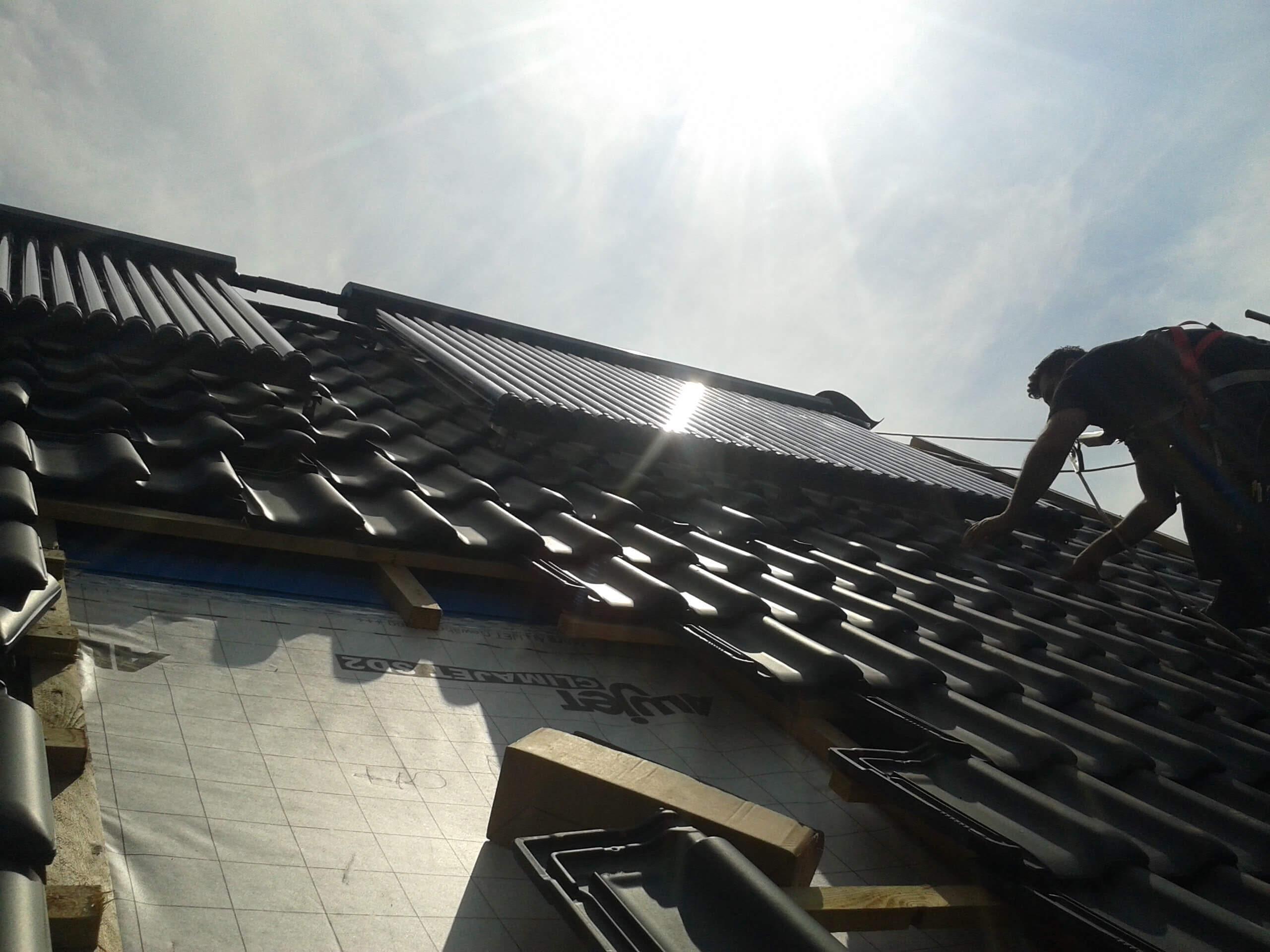 Dachmontage Solarthermie