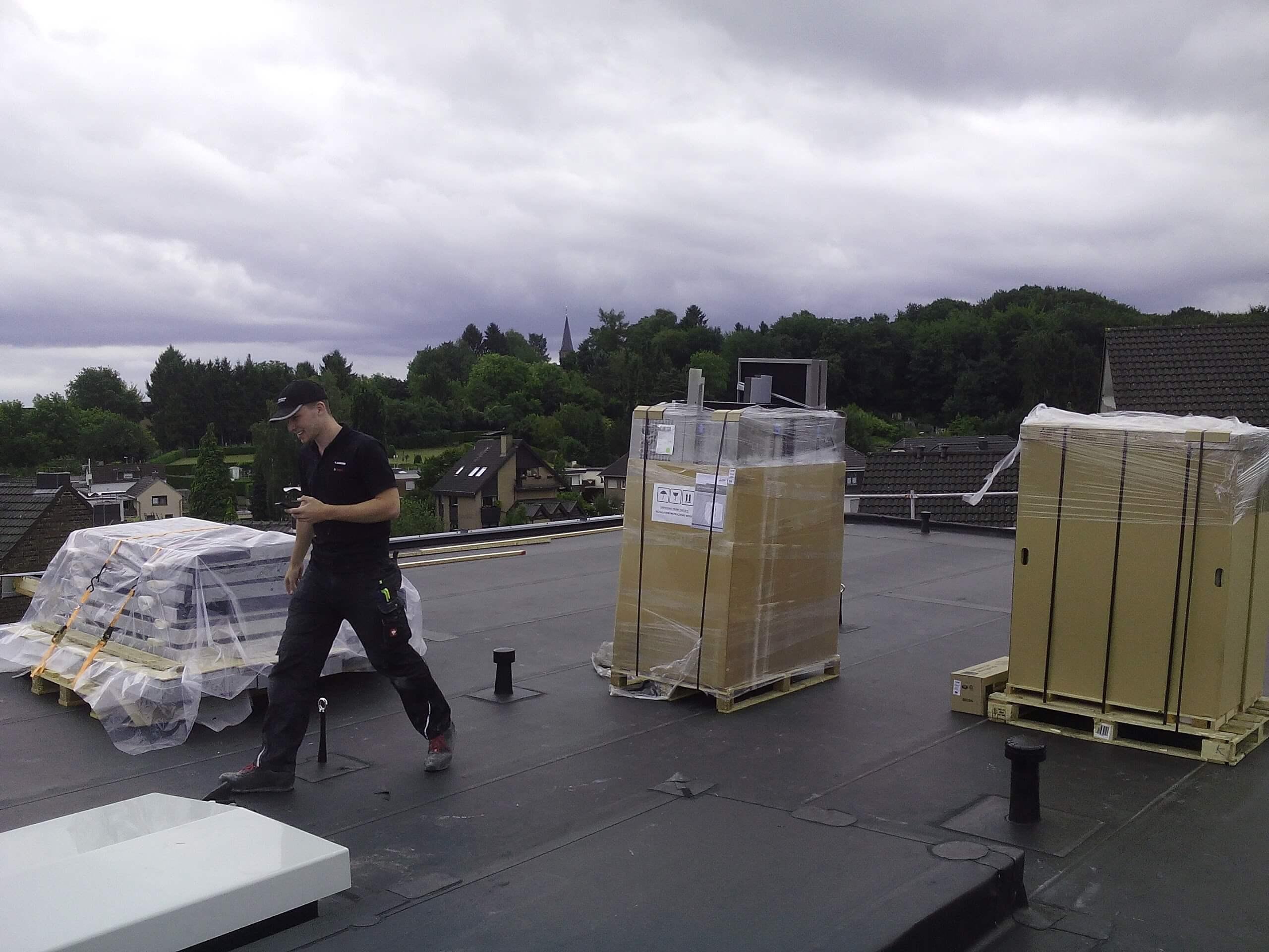 Mitsubischi Electric Wärmepumpen auf dem Dach