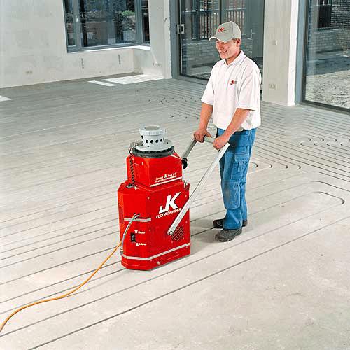 Eingefräste Fußbodenheizung in nahezu alle Estriche: JK Fußbodenheizung